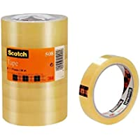 Scotch 19 mm x 66 m General Purpose Transparent Office Utility Tape, Clear , 8 Rolls