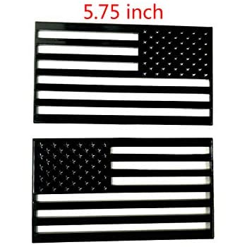 2X Black US American Flag Door Emblem Badge For RAM 1500 2500 Jeep Pickup Truck