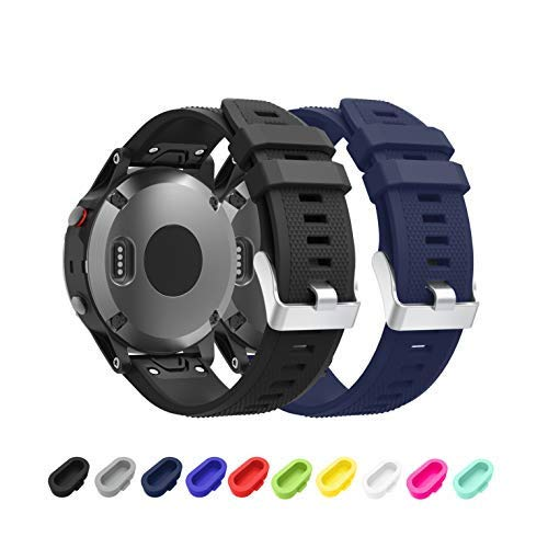 TOPsic Garmin Fenix 5 Banda, Silicona Reemplazo Correa para Garmin Fenix 5 / Forunner 935 / Fenix 5 Plus Smart Watch, 13.5cm-22.5cm, no Adapta a Fenix ...