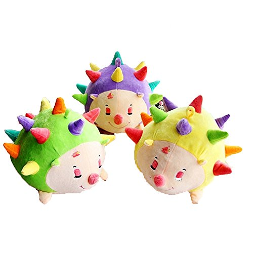 [COFFLED Stuffed Plush Toys Spunk Colorful Hedgehog for Infant Bedroom Decoration; Baby Nursery Decor Dolls Super Soft Stand Animal] (Grinch Costume Diy)