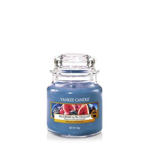 (Yankee Candle Mulberry and Fig Delight Jar Candle, Blue, Small)