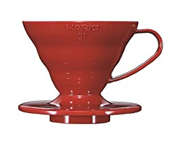Hario V60 Plastic Coffee Dripper (Size 01, Red)