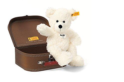 Steiff Lotte Teddy Bear In Suitcase Plush, White from Steiff