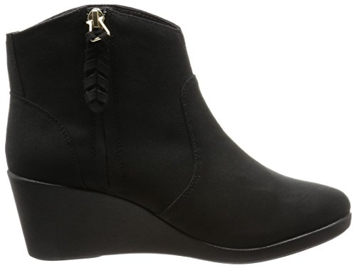 CROCS - Leigh Synth Suede Wedge Bootie black Black