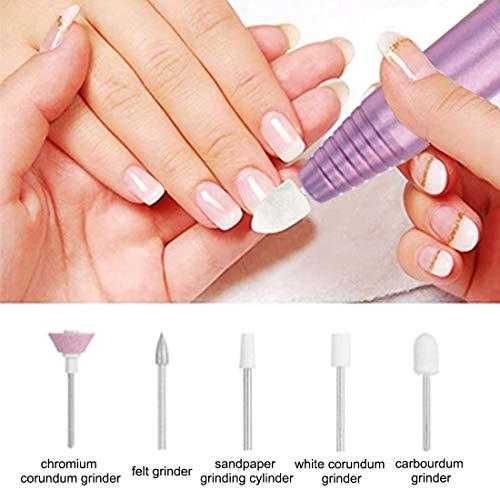 Nail Dremel Electric Nail File - Ejiubas Nail Drills for Acrylic Nails  Portable File Nail Drill Machine Handpiece Grinder Polisher Manicure  Pedicure