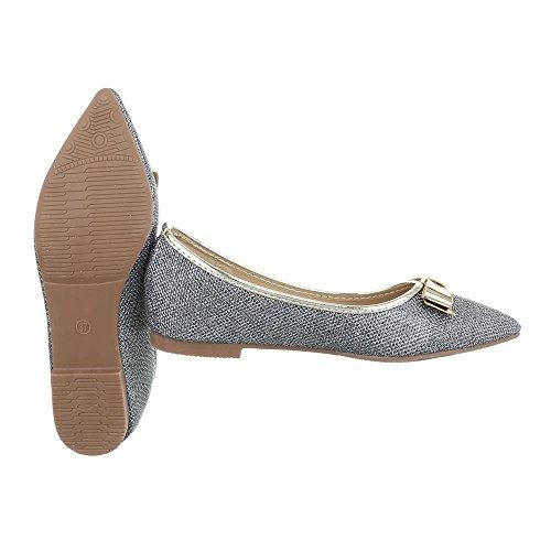Ital-Design - Cerrado Mujer gris plateado