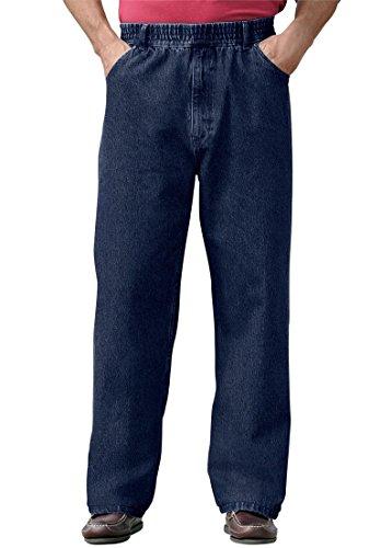 Kingsize Men's Big & Tall Comfort Waist Baggy Fit Jeans, ...
