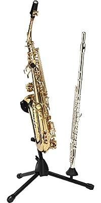 Titan Folding Alto or Tenor Saxophone Stand with Single Flute or Clarinet Peg