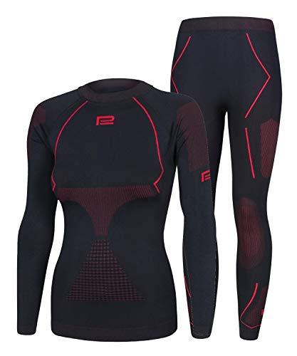 Prosske Damen Seamless Funktionsunterwäsche Thermo Xtreme 2.0 Set Thermounterwäsche Skiunterwäsche Atmungsaktiv
