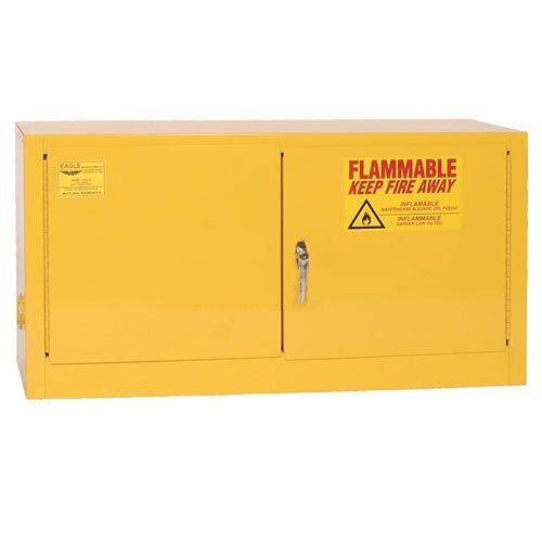 Eagle ADD-15 Stackable Safety Cabinet for Flammable Liquids, 2 Door Manual Close, 15 gallon, 22-1/4''Height, 43''Width, 18''Depth, Steel, Yellow by Eagle