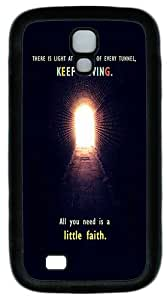 Samsung Galaxy S4 Protective Cases Quotes Hope Faith Light Tunnel TPU Silicone Rubber Case Cover for Samsung Galaxy S4 / SIV/ I9500 Black