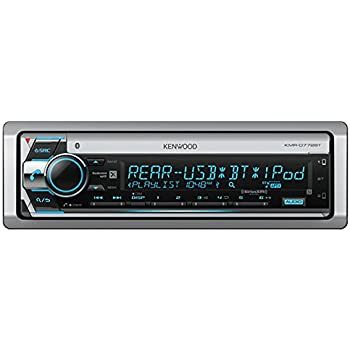 Kenwood KMR-D768BT Marine CD//MP3//WMA Player Bluetooth SiriusXM Radio Ready New