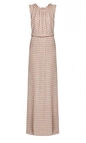 Seide Maxi Intropia Rosa aus Gemustertes Kleid Hoss Damen aO4wq1gx