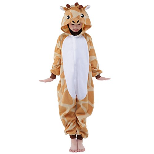 NEWCOSPLAY Unisex Children Giraffe Pyjamas Halloween Costume … (6-Height 50-52