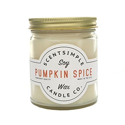 Spice Soy Candle (ScentSimple Scented Soy Candles 25+ Scents - Pumpkin Spice)