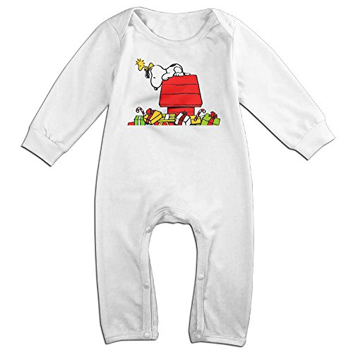Cotton Kids Infants Long Sleeve Onesies Toddler Bodysuit White Christmas Snoopy Rompers Playsuit Onesies