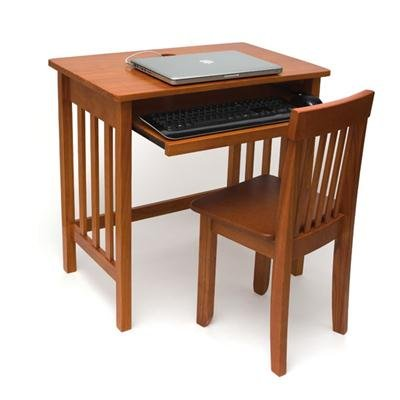 Lipper International 574P Child's Computer Desk and Mystic Chair, Pecan Finish