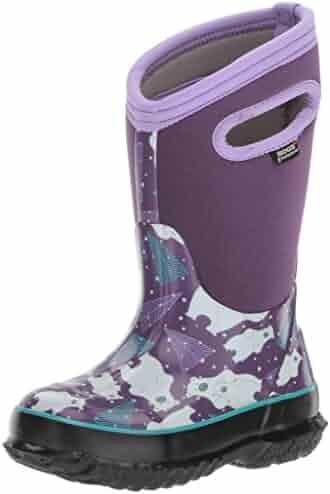 Bogs Kid's Classic High Waterproof Insulated Rubber Neoprene Rain Boot Snow, Bears Print/Purple/Multi, 8 M US Toddler