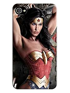 Amazing pattern tpu phone case cover with texture for iphone 4/4s of Wonder woman in Fashion E-Mall