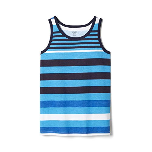 - French Toast Boys' Big Tank Top, BALEINE blue, (10/12)