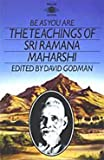 Front cover for the book Be as You Are: The Teachings of Sri Ramana Maharshi by Sri Ramana Maharshi