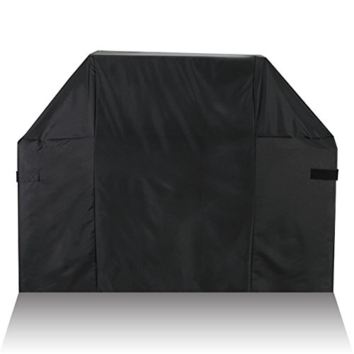 BORITAR BBQ Grill Cover 52 Inch to 58 Inch 300D PU Coating for Weber Holland Jenn Air Brinkmann and Char Broil, More Lightweight and Stronger All Weather