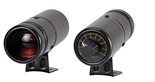 RICO Instrument Adjustable Shift Light Series Blue LED/0-10000 RPM/Black/ 12V/ Black housing by RICO Instrument Co., Ltd