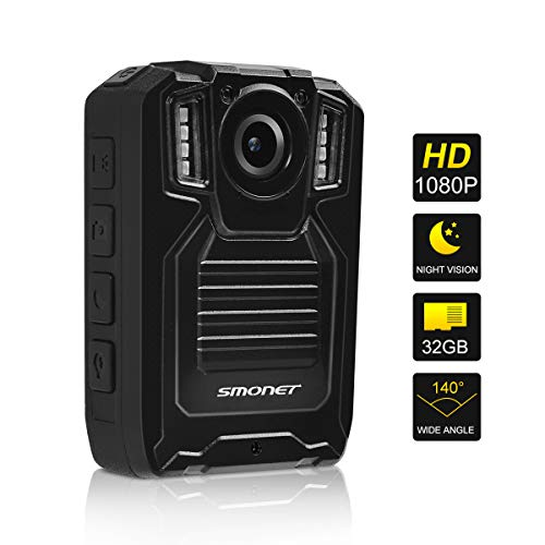 SMONET 【2019 New】 Body Camera with Audio, HD Multifunctional Police Body Cameras for Law Enforcement,Security Guard,Waterproof Body Worn Camera with Night Vision,2 Inch Display Video,Wide Angle(32GB) by SMONET (Image #8)