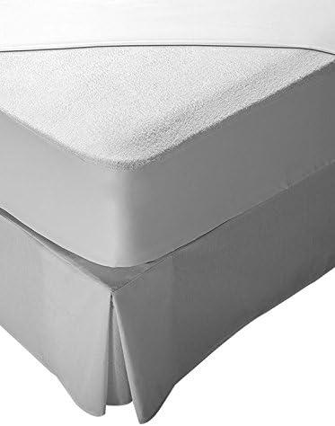 Pikolin Home - Protector de colchón rizo, 100% algodón, impermeable y transpirable, 135 x 190/200 cm, cama 135