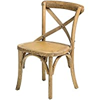 CSP Events W-710-X02-Baby X02Sonoma Cross Back Childrens Chair, 25.5 Height, 14 Width, 14 Length