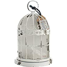 "Prima Marketing Frameworks Metal Birdcage-Antique White 7.8""X5.5""X2.75"""