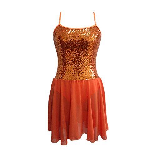 6dee7a11c HDW DANCE Contemporary Ballet Lyrical Sequin Bodice Chiffon Skirt Costume  Adult Girls (Small