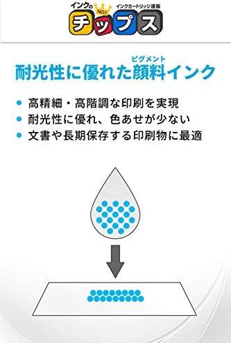 インクのチップス エプソン用 ICBK95L 互換インク ブラック 大容量 (ICBK95M の増量サイズ)顔料インクタイプ