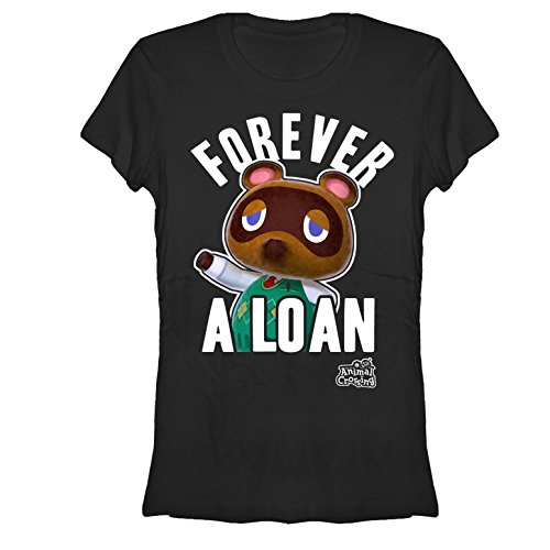 Forever Juniors T-shirt (Nintendo Animal Crossing Forever A Loan Juniors Graphic T)