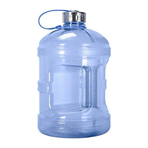 - Geo Sports Bottles GEO 1 Gallon (128oz) BPA Free Reusable Leak-Proof Drinking Water Bottle w/48mm Stainless Steel (Dark Blue)
