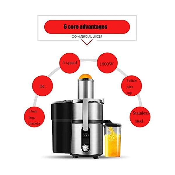 SMX Juicer Macchina con 5 Speed Control, Big Mouth Scivolo di Alimentazione, centrifuga, Facile da Pulire, Acciaio… 5 spesavip