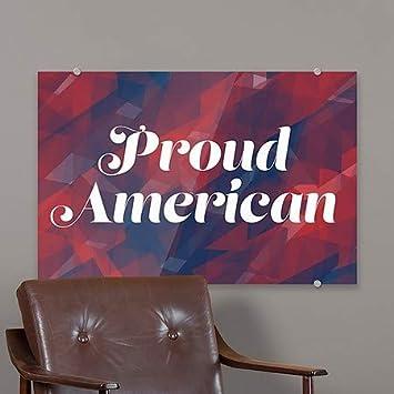 5-Pack | 27x18 Inner CirclePatriotic -Proud American Premium Brushed Aluminum Sign CGSignLab