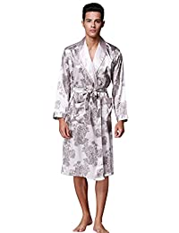 BHoming(TM) Mens Silk Satin Robe, Satin Kimono Robe Bathrobe for men