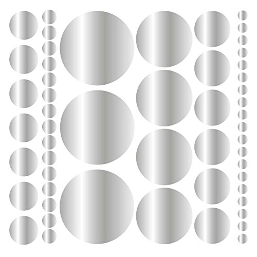 (Assorted Size Polka Dot Decals - Repositionable Peel and Stick Circle Wall Decals for Nursery, Kids Room, Mirrors, and Doors)