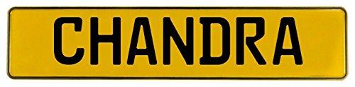 Art Chandra Art (Vintage Parts 614094 Yellow Stamped Aluminum Street Sign Mancave Wall Art (Chandra))