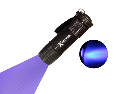 Xfactor HIGH Intensity 12 LED Ultraviolet UV LIGHT BLACK LIGHT FLASHLIGHT for LCD Glass Digitizer Repair, Dog & Cat Pet Urine Stain Detector, Scorpion Hunting, Counterfeits!!
