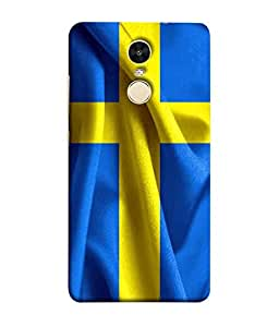 ColorKing Football Sweden 01 Blue shell case cover for Xiaomi Redmi Note 4