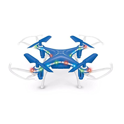 Price comparison product image Nacome 2.4GHz 4CH Led Mini 3D Rollover RC Quadcopter Christmas Gift (Blue)