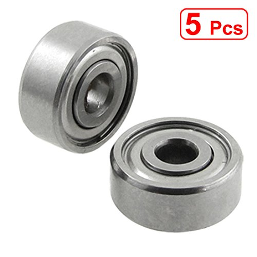 (uxcell Amico s15052700am0253 uxcell 5 Pcs Double Sealed 3 x 10 x 4mm Deep Groove Ball Bearings 623Z)