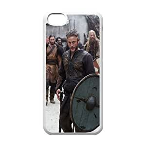 Vikings Ragnar Lodbrok iPhone 5c Cell Phone Case White&Phone Accessory STC_177772