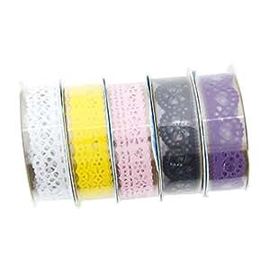 AKORD encaje cinta adhesiva adhesivo decorativo para DIY Craft, vinilo, multicolor, 15x 5,4x 1cm