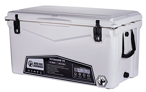Bird Dog Coolers OUTBOUND 20, 45, and 75 Quart Models - Durable & Stylish Rotomolded Coolers Featuring Bottle Openers, Vacuum Release Valve, and Lo Profile Latching System