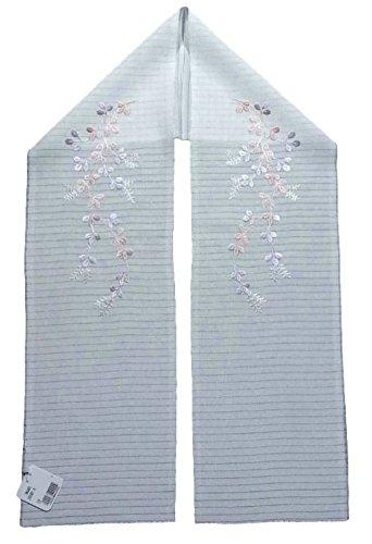 和装小物 正絹 刺繍 半衿 夏物 絽