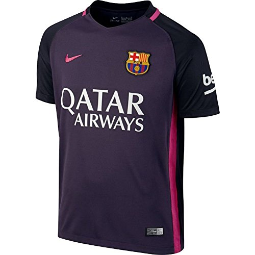 Nike Kids' Barcelona 2017 Away stadium Soccer Jersey (Purple) (Youth Large)