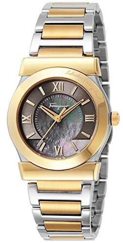 Salvatore-Ferragamo-watch-VEGA-Brown-pearl-dial-stainless-FI1020014-Mens-parallel-import-goods